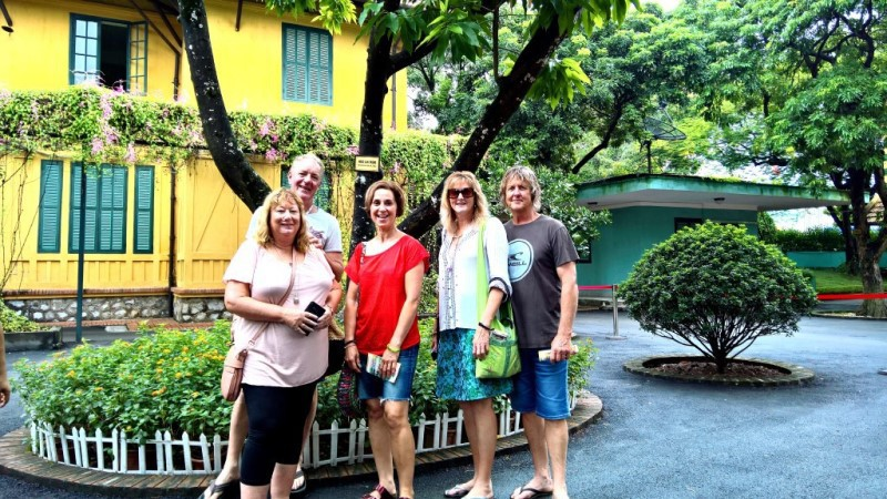Jan and her friends in Hanoi